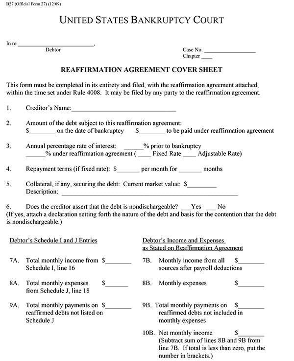 Reaffirmation Agreements in Bankruptcy