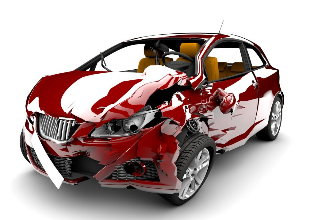 Car Accident-Red Car